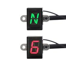 Универсальный мотоциклетный рычажный датчик переключения дисплея светодиодный цифровой индикатор передачи скорости крепление 5/6