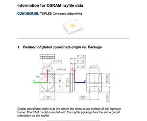 Image 2 - OSRAM DIODO EMISSOR de luz 1.5 W 3 V 1210 3528 2835 153LM Cool white Backlight LCD para TV TV Aplicação TCU JHCR. SB