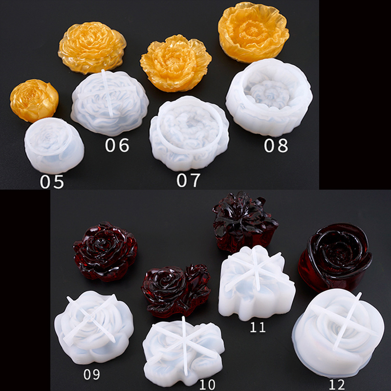1PC New Flower Shaped Silicone Expoxy Resin Mold Pendant Tools Jewelry Mold Accessories Resin