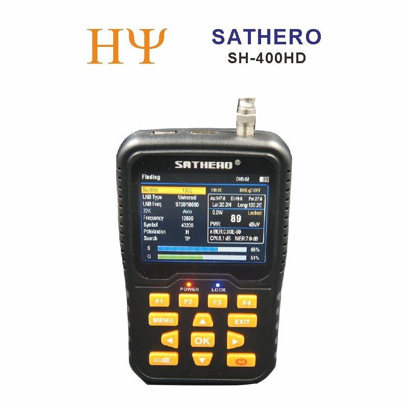 Sathero SH-400HD 3.5 inch LCD Screen DVB-S2 Satellite Finder Sathero 400HD better than satlink ws-6916 ws-6933 ws-6960 v8 finde satlink ws 6979se satellite finder meter 4 3 inch display screen dvb s s2 dvb t2 mpeg4 hd combo ws6979 with big black bag