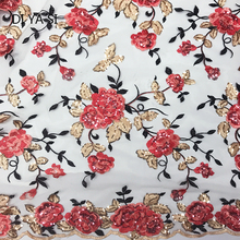 2018 Latest Net Lace Sequins Fabric For Wedding Sewing Accessories High Quality African French