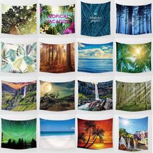 Hot sale beauty landscape large tapestry Wall Hanging Printed home decoration size M:150*130cm and L: 200*150cm