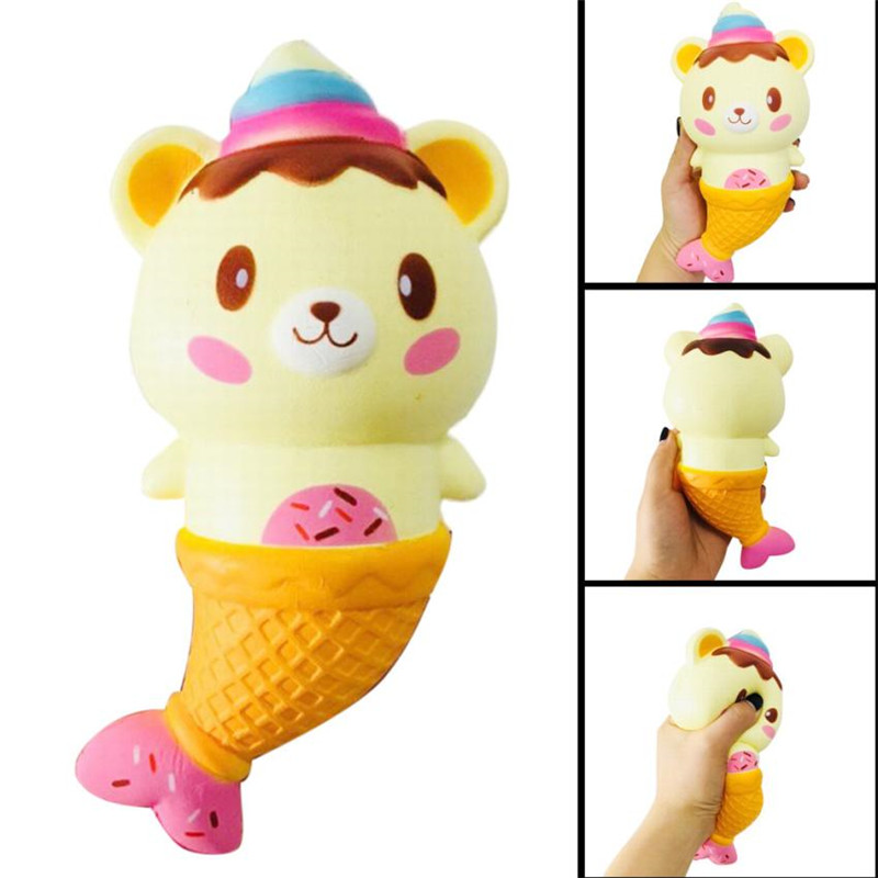 Jumbo Kawaii Cute Fish Tail Ice Cream Fun Rilakkuma Bear Scented Slow Rising Collection Squeeze Stress Reliever Toy Kids Adult20