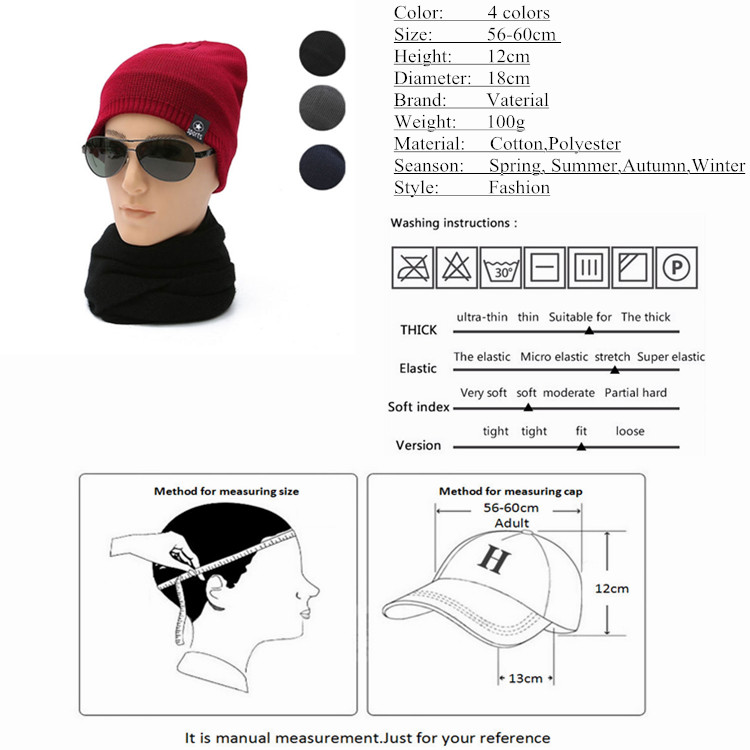 2017 New pattern Winter Cold Winter Knit Hat Cap Men  s Outdoor Skiing Plus  Cashmere Warm Baotou Hat Wholesale 1291-in Skullies   Beanies from Apparel  ... 35a9f572577f