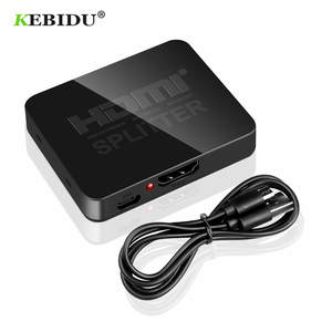 KEBIDU Full HD 1080p HDCP 4K HDMI Splitter HDMI Switch Switcher 1X2 Split 1 in 2 Out Amplifier Dual Display For DVD PS3 HDTV