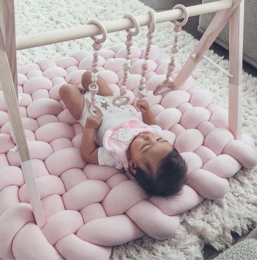 Tapis de jeu bébé Tapis Enfant jeux de bébé Tapis de jeu enfants Tapis de sol Tapis coussin bébé chambre accessoires jouets pour enfants 85x70cm