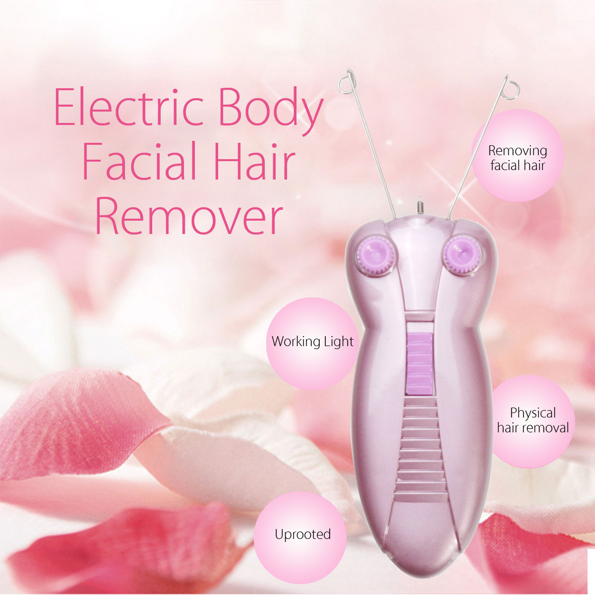 SURKER Mini Electric Body Neck Leg Hair Face Facial Hair Remover Defeatherer Cotton Thread Epilator Shaver Removal For Women