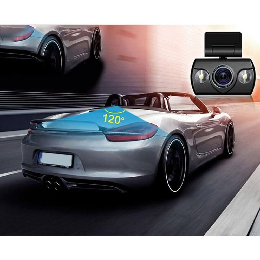 Mini Car Camera Dual Lens Car DVR Dash Cam HD 1080p 170 Wide Angle With G-Sensor WDR Loop Recording And Night Vision 2