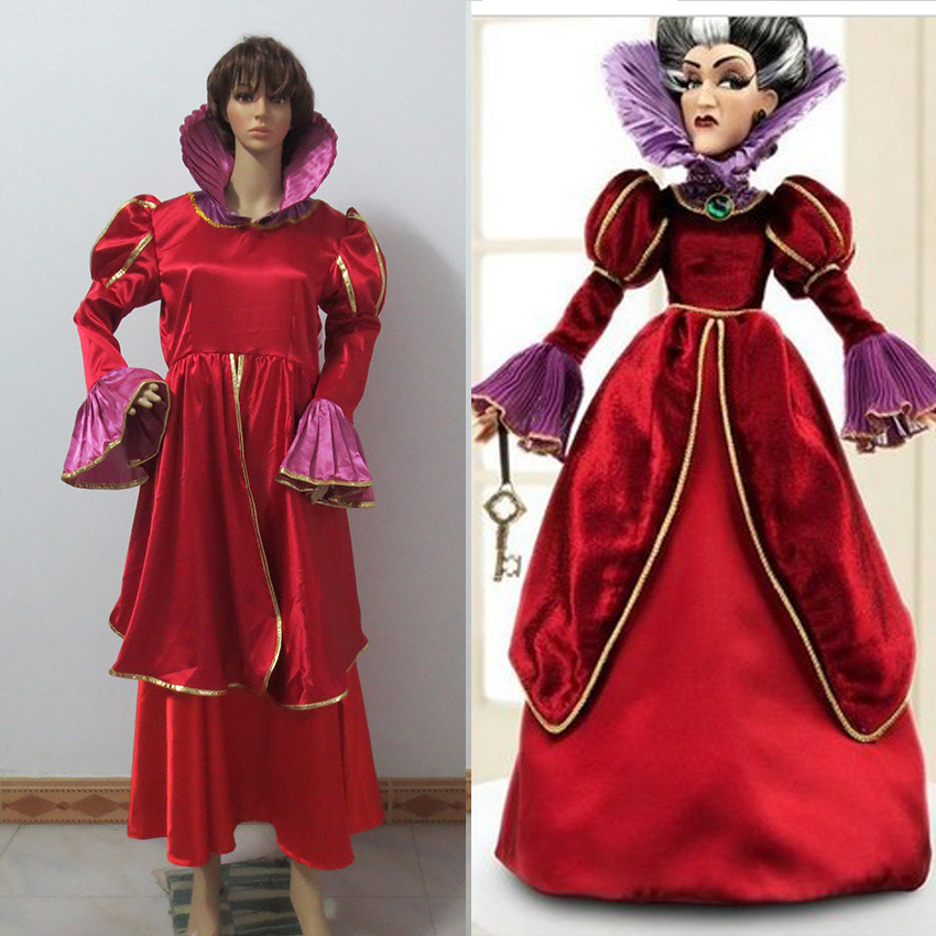 Cinderella Stepmother Dress Cinderella Dress Satin Mother Prom Dresses Cinderella Cosplay Costume Cosplay Costume