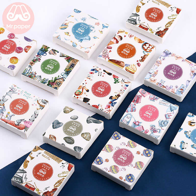 Mr.紙 40 ピース/箱キャンディー童話デコ日記ステッカースクラップブッキングプランナー日本かわいい装飾文房具ステッカー