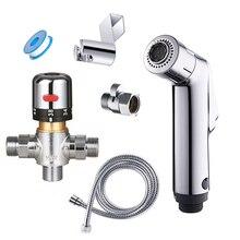 Термостатический смеситель для биде toliet с регулируемым потоком, двойная функция, ручной распылитель биде для ванной комнаты, качественная насадка для туалета и душа
