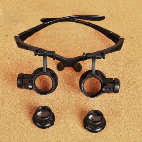 Image 3 - New Design Binocular Glasses Type 20X Watch Repair Magnifier with LED Light Hunting Optics In Stock Hot-in Monocular/Binoculars from Sports & Entertainment