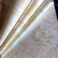 Europe Non Woven Wallpaper Roll Home Decor Minimalist Embossed Wallcovering Living Room Design Idea Bedroom Wallpaper