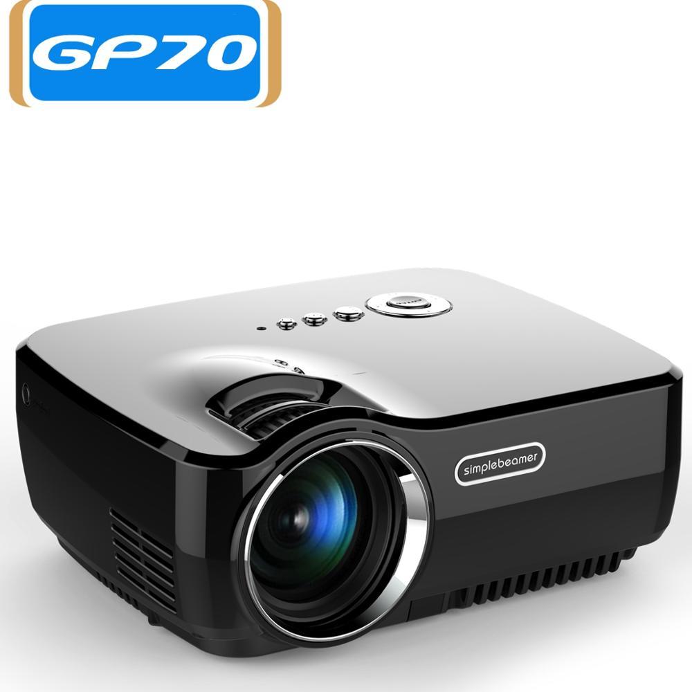 GP70 2017 AM01 New HD LED HDMI USB Video Digital Home Theater Portable HDMI USB LCD DLP Movie Pico LED Mini Projector