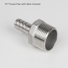 """1 """" Thread Pipe x Barb Hosetail Reducer Fitting,  Stainless Steel 304 Connector"""
