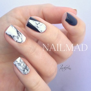 Image 5 - 1 sheet NailMAD Stone Marble Nail Water Decals Transfer Stickers White Marble Nail Art Tattoo Sticker Black Marble Water Slide