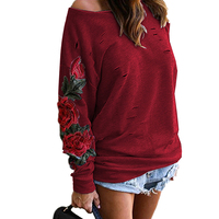 Autumn Harajuku Hooeded Sweatshirt Women Elegant Floral Embroidery Hoodies Long Sleeve Hollow Out Sweatshirt Plus Size