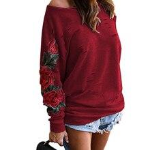 Autumn Harajuku Hooeded Sweatshirt Women Elegant Floral Embroidery Hoodies Long Sleeve Hollow Out Sweatshirt Plus Size WS2768T