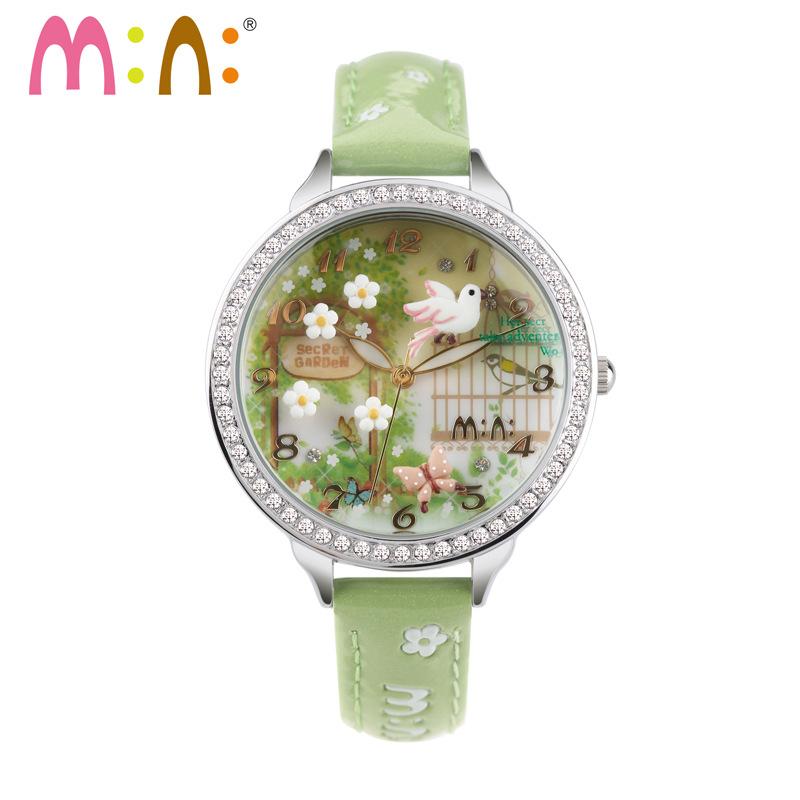 Prix pour Main 3D POLYMÈRE ARGILE M: N: Corée Mini Diamant ladies Watch Femmes Robe montres à quartz Relogio vente chaude-vol d'oiseau