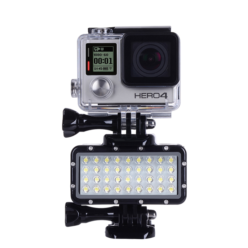 Xiaoyi and Other Action Cameras //3//2 //1 Blac for GoPro Water Sports Accessories 1500 Lumens 60m Underwater Diving LED Torch Light Bright Video Lamp for GoPro HERO7 //6//5 //5 Session //4 Session //4//3