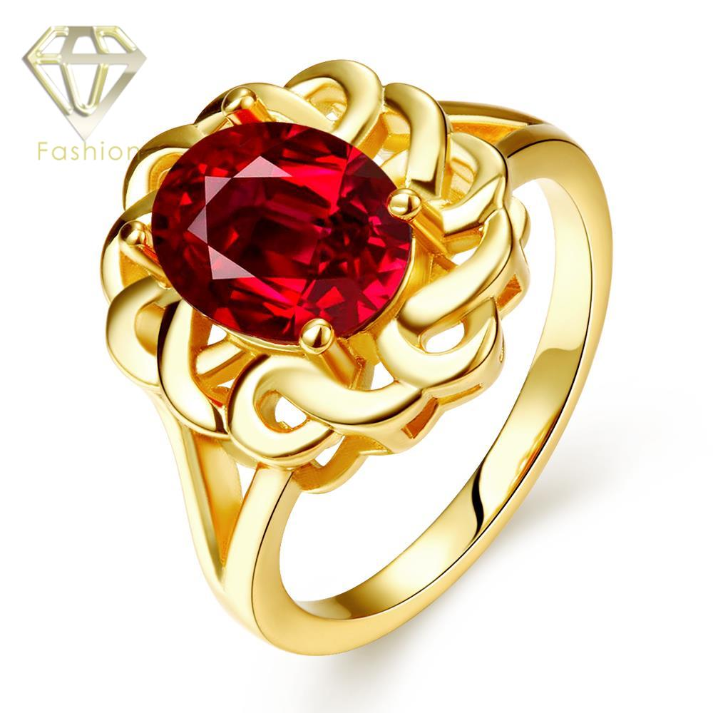 Gold Jewellery Design New Arrival Hollow Flower with Big CZ Rose