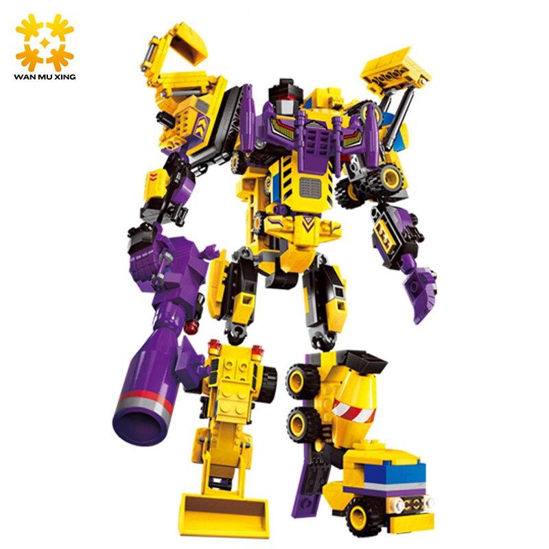 599pcs 7 en 1 Le Créateur Dieu Robot Building Blocks Ensembles - Concepteurs et jouets de construction - Photo 2
