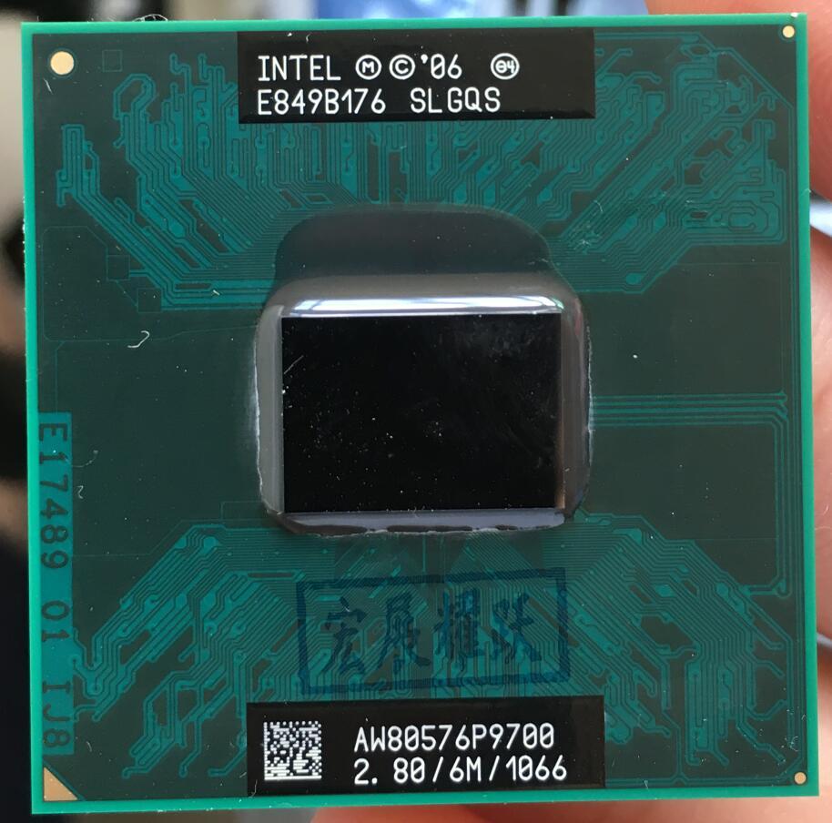 Intel Core 2 Duo P9700 portable CPU SLGQS EO Ordinateur Portable processeur PGA 478 cpu 100% fonctionne correctement