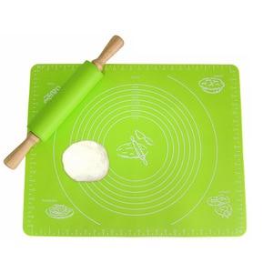 Image 3 - 1pc 비 스틱 실리콘 매트 롤링 반죽 라이너 패드 과자 케이크 Bakeware 붙여 넣기 밀가루 테이블 시트 주방 도구