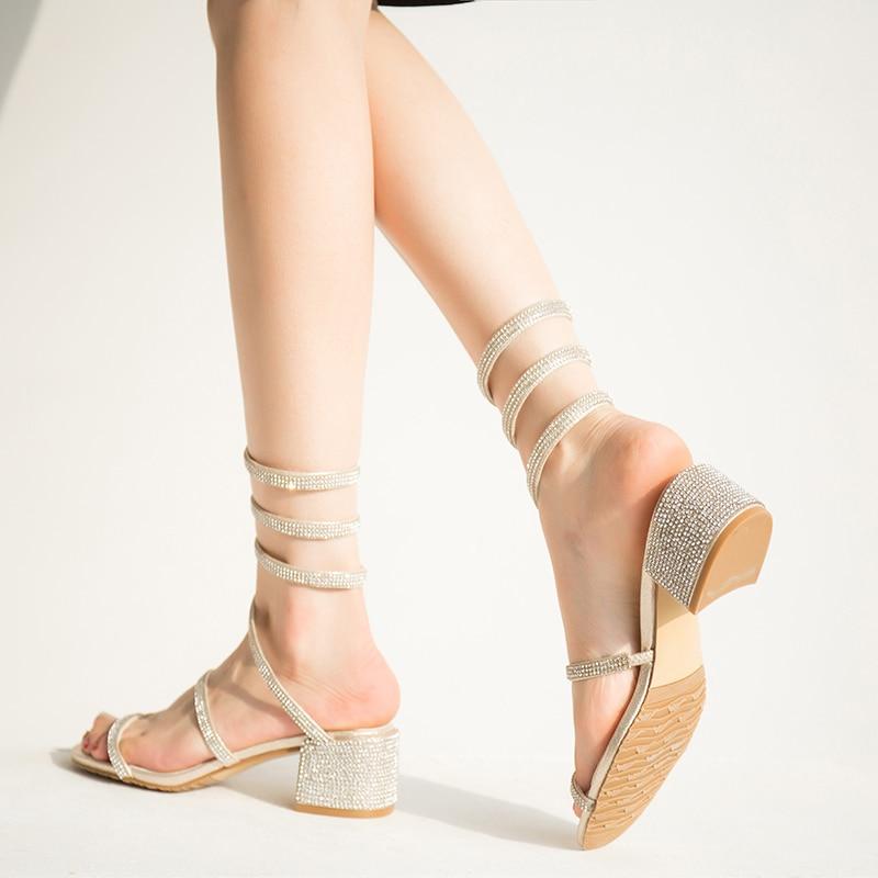 meifeini2019 summer new womens high heel sandals sequined heel shoesmeifeini2019 summer new womens high heel sandals sequined heel shoes