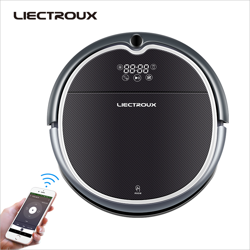 LIECTROUX Robot Aspirapolvere Q8000, WiFi App, Mappa di Navigazione, Memoria Intelligente, UV Sterilizza, asciutto bagnato Mop, di Aspirazione 3KPa, Motore Brushless