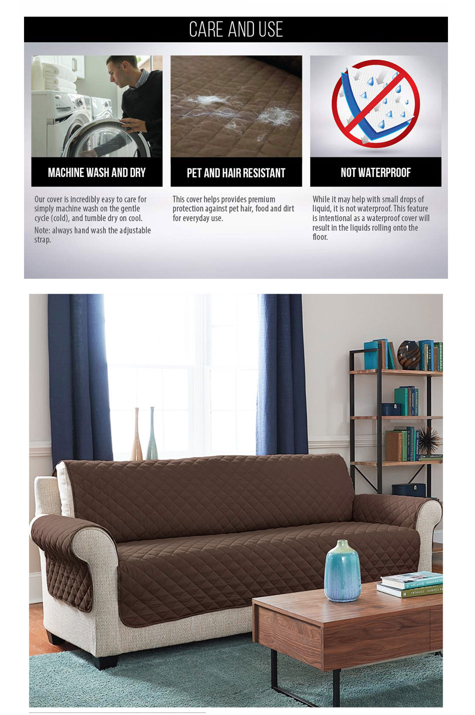 Astounding Sofa Cover Protector For Kids Dog Cat Pets Reversible Furniture Loveseat Waterproof Seater Chair Covers Anti Slip Sofa Mat Pabps2019 Chair Design Images Pabps2019Com