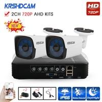 KRSHDCAM 4CH AHD DVR Security CCTV System 30M IR 2PCS 1080P CCTV Camera Outdoor Waterproof Camera