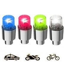 2 шт. светодиодный колпачок для шин на колесиках для автомобиля и велосипеда, пылезащитный колпачок со вспышкой, автомобильные стержни и колпачки, аксессуары