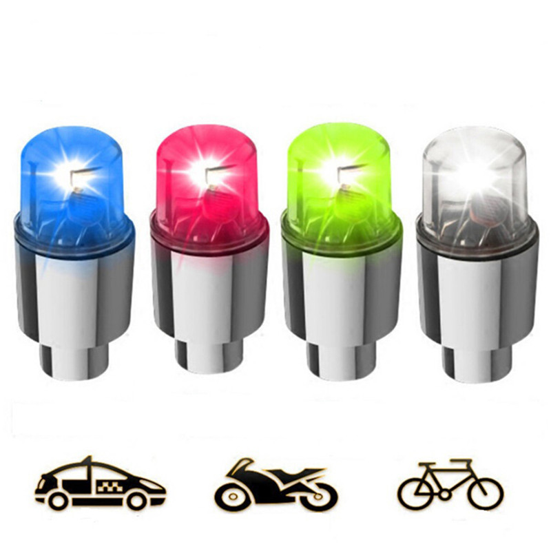 2Pcs LED Car Bike Wheel Tire Tyre Valve Dust Cap Spoke Flash Lights Car Valve Stems & Caps Accessories2Pcs LED Car Bike Wheel Tire Tyre Valve Dust Cap Spoke Flash Lights Car Valve Stems & Caps Accessories
