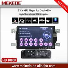 """7""""screen gc6 grabadora de coche para geely con gps navigator mapa libre de la tarjeta de cassette de radio teléfono Bluetooth soporte Multilingüe"""