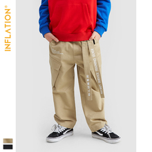 INFLATION KIDS Cargo Pants Kids Clothes Girls  5 - 15 Streetwear Style Boy Crago Loose Legging 19903A