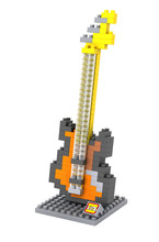 LOZ 9195 Musical Instruments Bass Guitar Educational Diamond Bricks Minifigures Building Block Best Toys Compatible with Legoe
