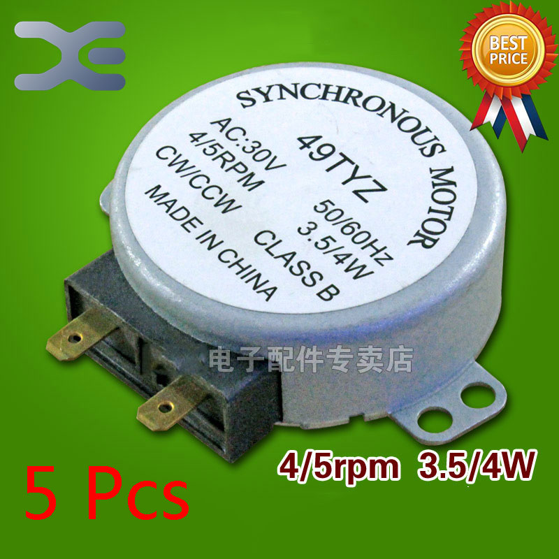 5Pcs Accessories For Microwave Ovens Synchronous Motor Parts 49TYZ Microwave Turntable Motor microwave accessories microwave glass turntable microwave stand synchronous motor revolutions core bobbin gm accessories
