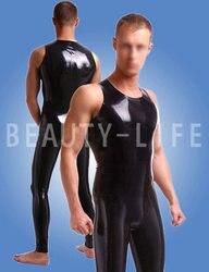 Латексный облегающий костюм без молнии или с шаговыми молниями, штаны и комплекты топов