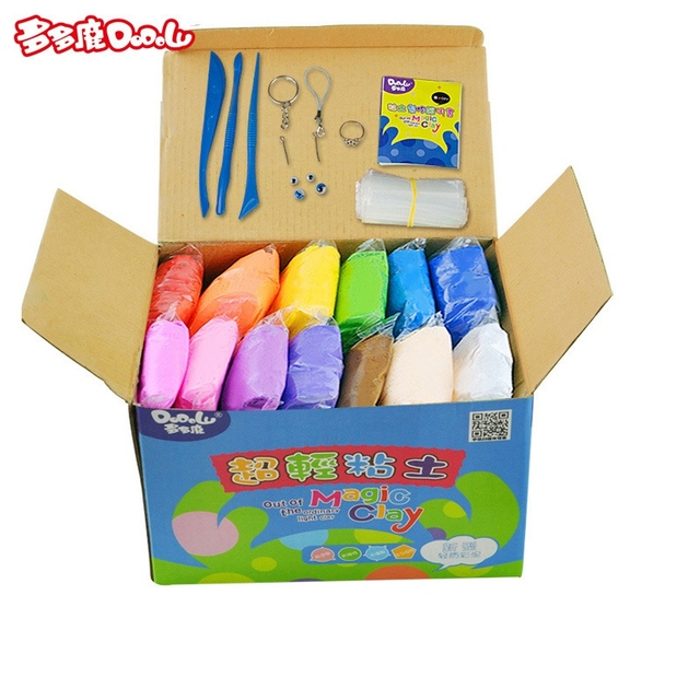 DoDoLu 24 colors Soft polymer Modelling Clay toys Air-dried clay good package Blocks Special Toys DIY polymer clay