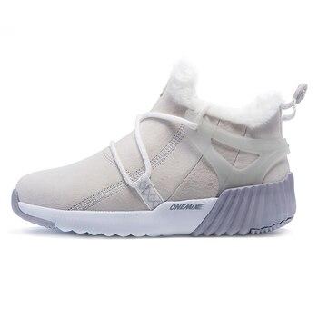 ONEMIX Winter Stiefel Frauen Warme Wolle Turnschuhe Im Freien Neutral Sport Turnschuhe Komfort Laufschuhe Verkauf Größe 36-40