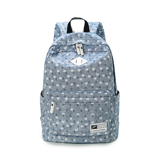 Sunborls frescos bonito sacos de livro de design da marca floral de alta qualidade de impressão da lona mochila mulheres mochilas escolares para adolescentes menina