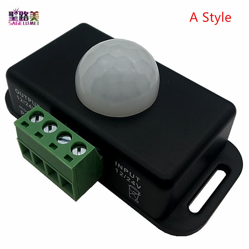 DC 5V 12V 24V Body Infrared PIR Motion Sensor Switch Human Motion Sensor Detector Switch For LED Strip Light Lamp Automatic