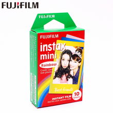 Original Fujifilm 10 sheets Instax Mini Rainbow Instant Film photo paper for 8 7s 25 50s 90 9 SP-1 SP-2 Camera