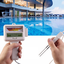 Probador de Calidad del Agua de cloro portátil para el hogar, accesorios de piscina, limpiador de agua, Spa, acuario, prueba de medidor de PH, verificador de Monitor