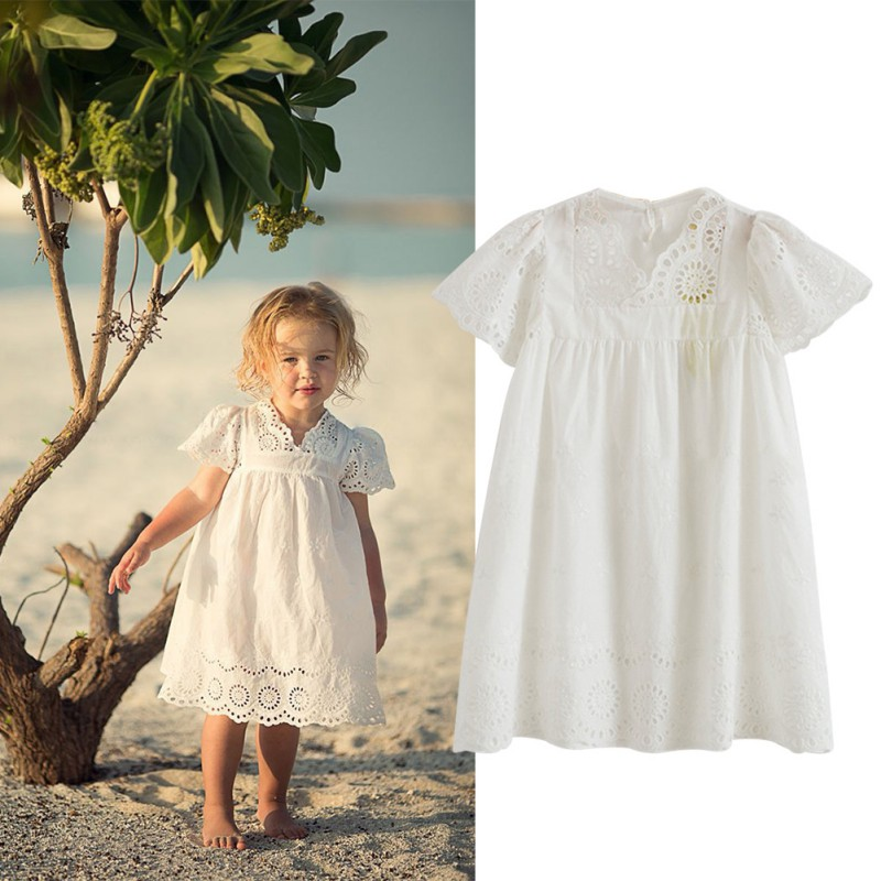 Baby Girls Dress Sleeved Hollow Carved Baby Clothes Summer Dress 2018 Childrens Clothing Girls DressBaby Girls Dress Sleeved Hollow Carved Baby Clothes Summer Dress 2018 Childrens Clothing Girls Dress