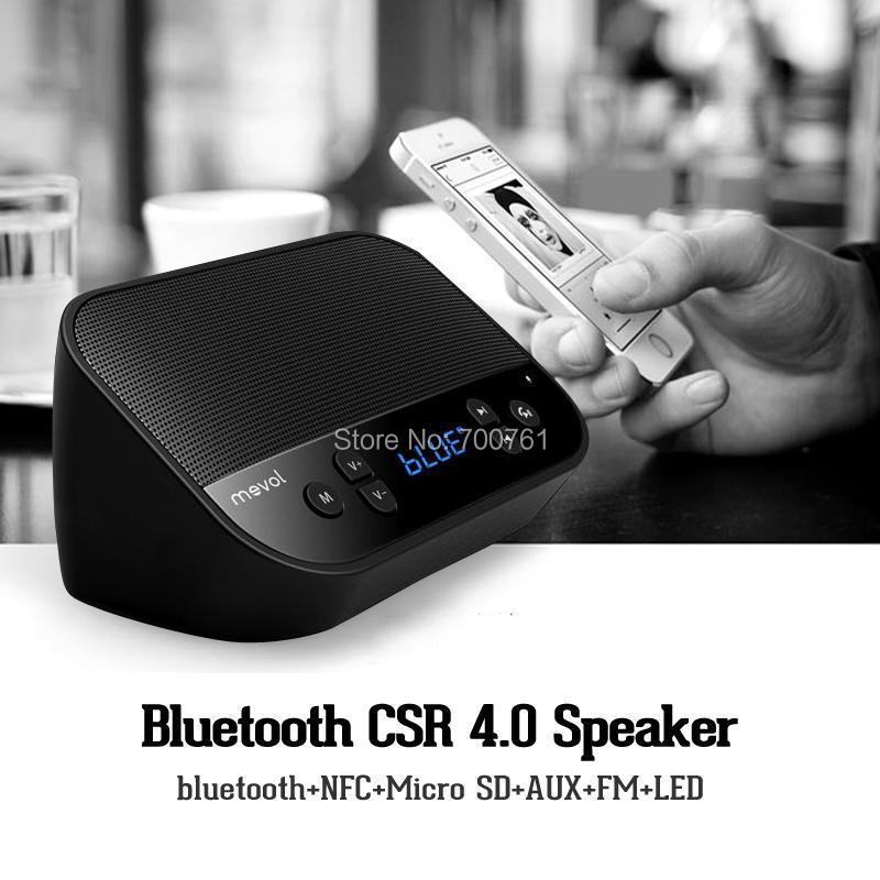 NEW NFC Wireless bluetooth CSR 4.0 speaker Handfree FM Radio TF card HIFI speakers music sound box for Iphone Samsung