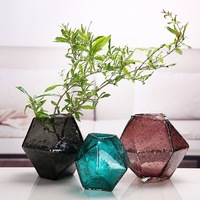 Creative Glass Vase Transparent Nordic Bubble Water Bottle Special shaped Bottle Small and Pure Fresh Flower Adornment