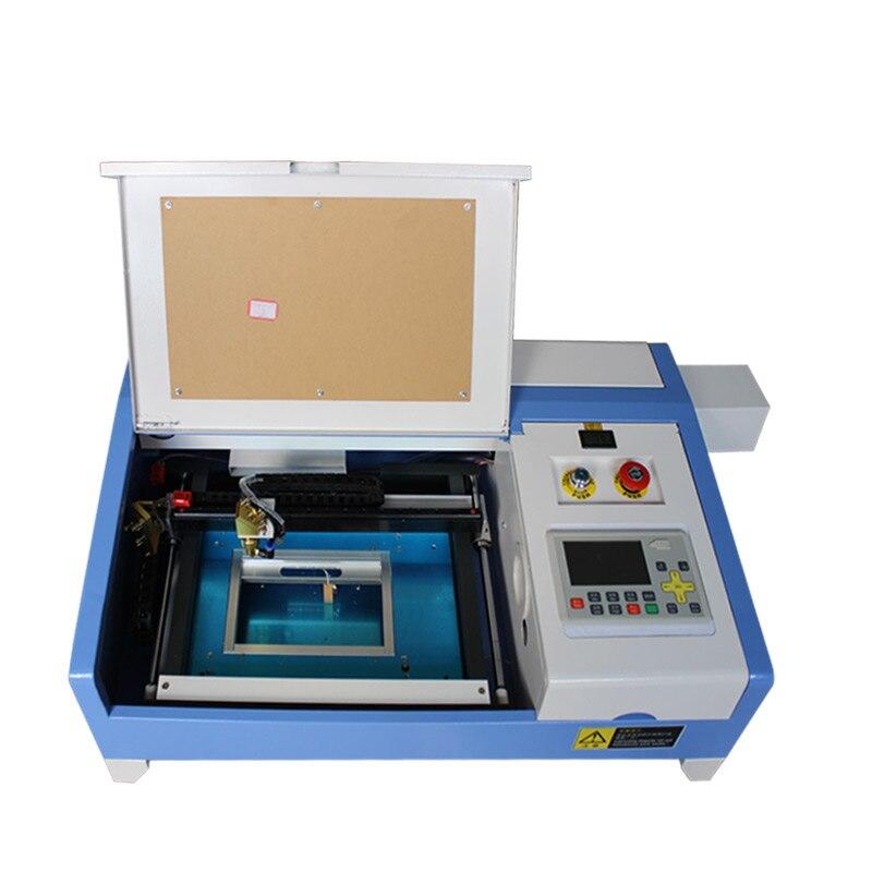 110 220V 50 watt 200*300mm mini CO2 laser metall gravur schneiden maschine 3020 mit off- linie system