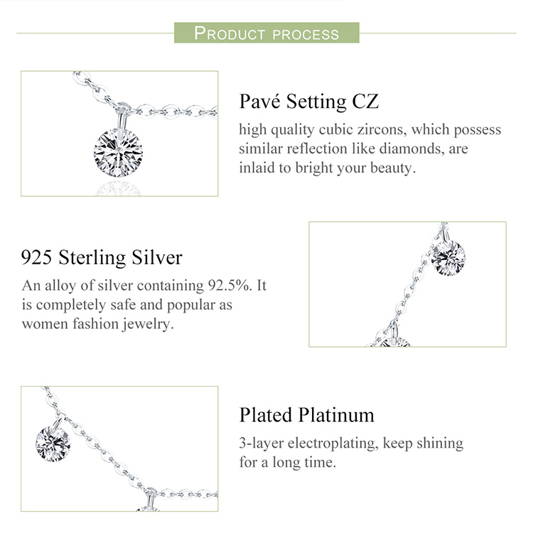HTB1 6gzXo rK1Rjy0Fcq6zEvVXa9 BAMOER Real 925 Sterling Silver Dazzling Cubic Zircon Round Circle CZ Pendant Necklaces for Women Sterling Silver Jewelry SCN299